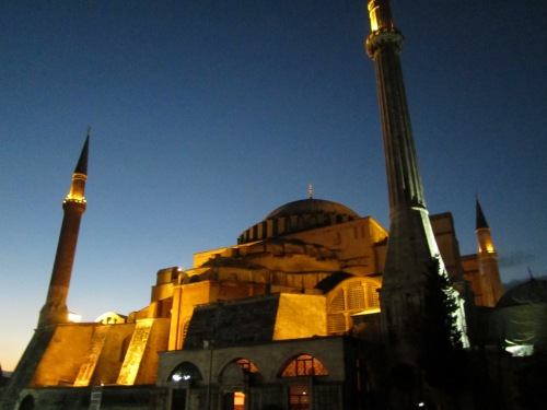 Due to the weather the only decent photos of the Haggia Sophia were taken at night.