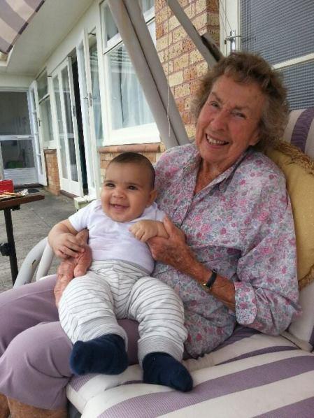 Nana Joan with my second cousin, Maliko.