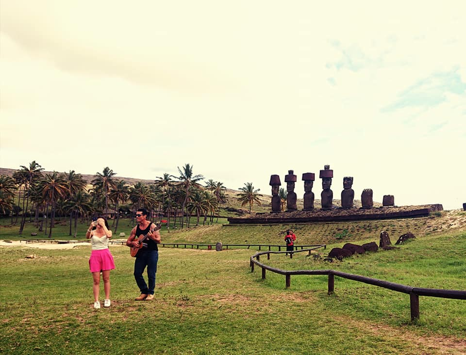 Beach statues