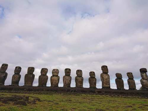 moai by the sea