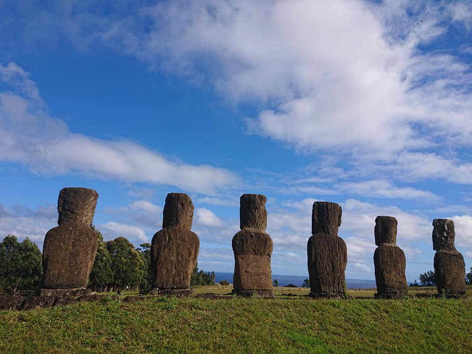moai facing sea