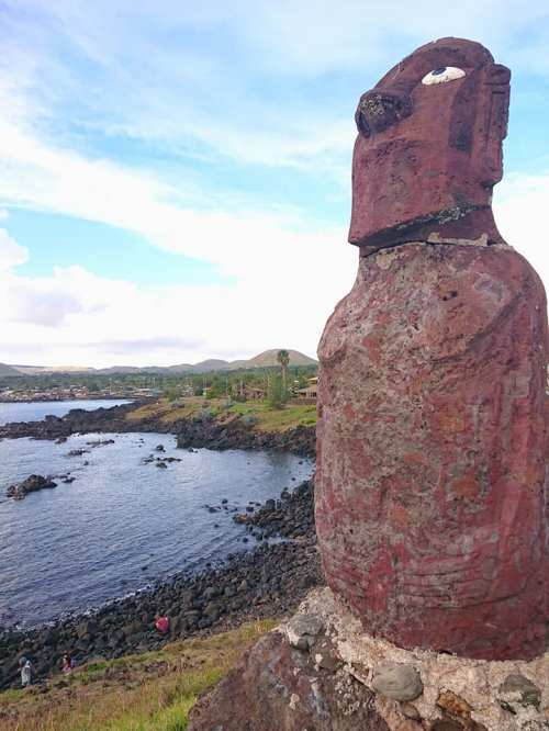 painted moai